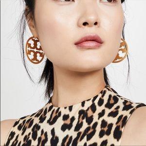 NWT Tory Burch Gold Logo Hoop Earrings